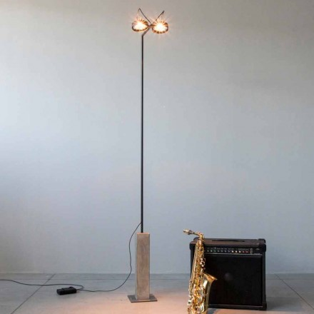 Eisen Stehlampe mit Zementsockel Made in Italy - Wink