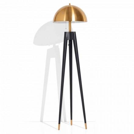 Moderne Stehlampe aus Metall und gebürstetem Messing Made in Italy - Peter
