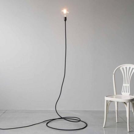 Moderne Stehlampe aus handgefertigtem Kupfer und Baumwolle Made in Italy - Guapa