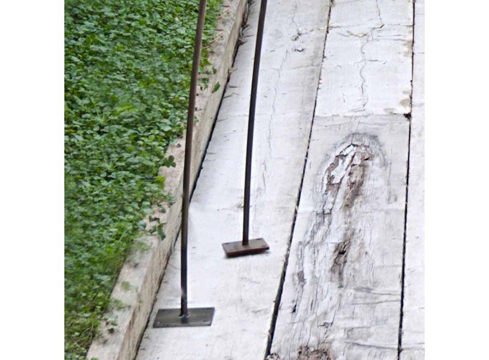 Außen Stehlampe aus verzinktem und lackiertem Eisen Made in Italy - Beba