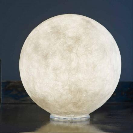 Tischleuchte In-es.artdesign T.moon aus weißem Nebulit