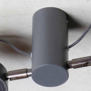 Aluminiumlampe mit 2 verstellbaren Lichtern Handgefertigt Made in Italy - Gemina
