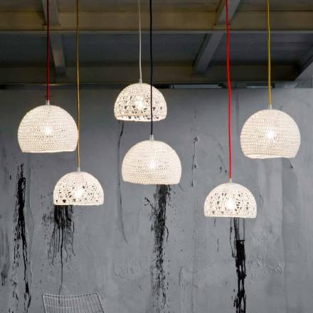Lampe aus Baumwolle und Viskose in-es.artdesign aufgehängt Moderne Textur