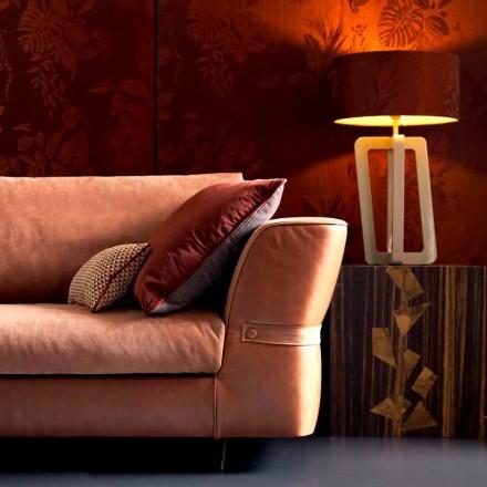 Tischlampe aus Massivholz lackiert Grilli Barnaby in Italien hergestellt