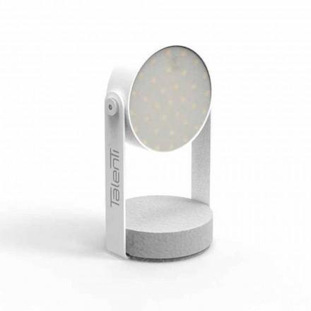 Led Outdoor Tischlampe, weißes Aluminium oder Graphit - Tofee von Talenti