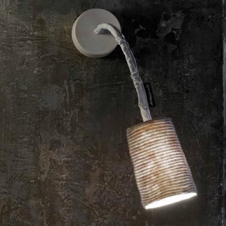 Moderne Wandleuchte In-es.artdesign Paint A Stripe Nebulite und Wolle