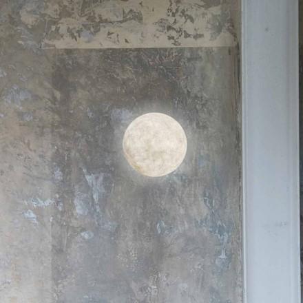 Moderne Wandleuchte In-es.artdesign A. Moon in Nebulite