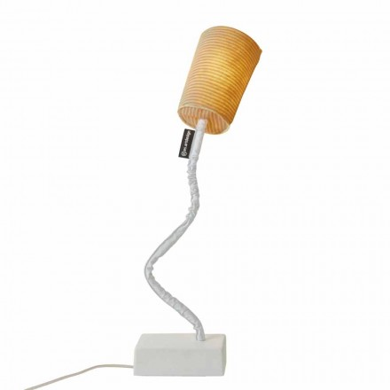 Moderne Tischlampe In-es.artdesign Paint T Stripe aus Wolle