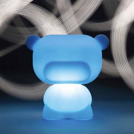 Helle bärförmige Tischleuchte Slide Pure, die zu 100% in Italien hergestellt wird