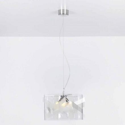 Lampe Suspension 3 Lichter Methacrylat specrall diam.75 cm Nicole
