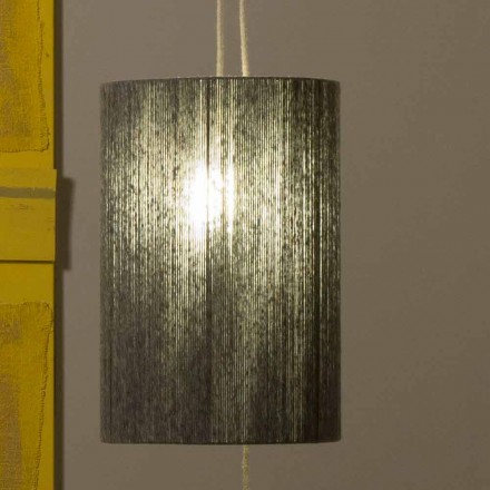 Hängelampe / Stehlampe aus Messing und Wolle made in Italy Evita