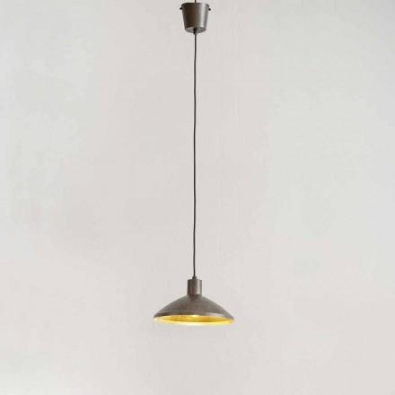 Hängeleuchte aus Stahl antik – Materia Aldo Bernardi