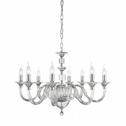 8 Lichter Design Glas Kronleuchter mit Ivy Kristall Dekorationen