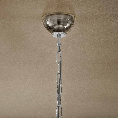 Artisan Kronleuchter mit 6 Leuchten aus venezianischem Rauchglas Made in Italy - Agustina