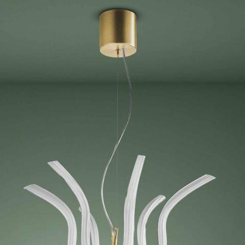 6-flammiger venezianischer Glas-Kronleuchter handgefertigt in Italien - Antonietta