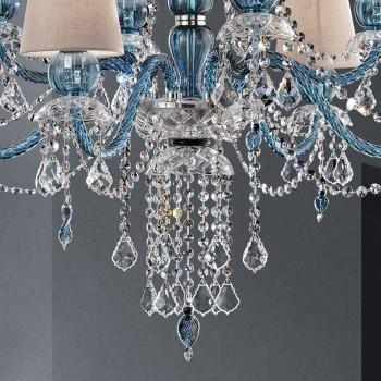 8-flammiger Kronleuchter aus venezianischem Glas handgefertigt, Made in Italy - Milagros