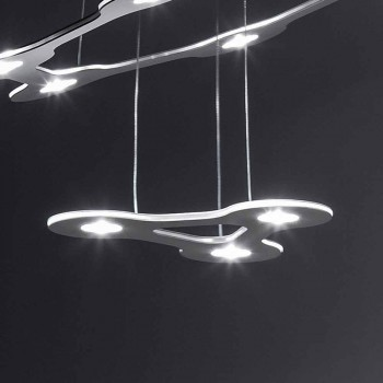 9-flammiger Kronleuchter aus fein lackiertem Aluminium Made in Italy - Flash