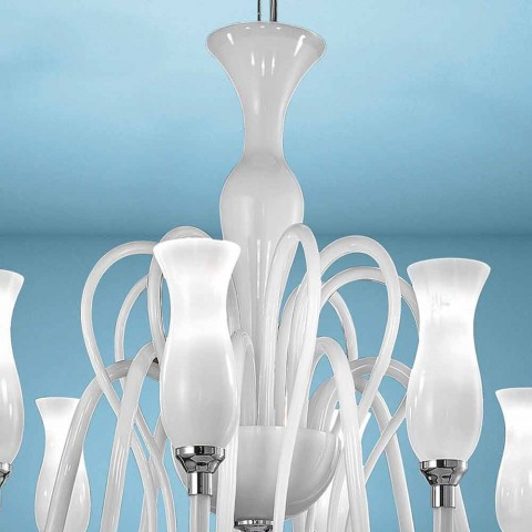 Artisan 8-flammiger venezianischer Glas-Kronleuchter, Made in Italy - Vittoria