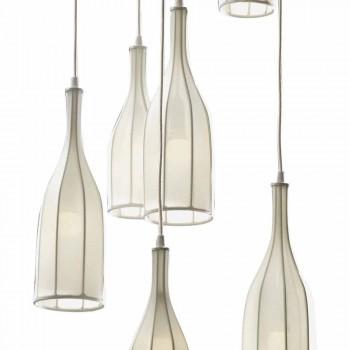 Design Kronleuchter mit 6 Lampenschirmen Grilli Mathusalem made in Italy
