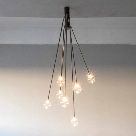 Handgemachter Kronleuchter aus Eisen mit 7 Lichtern Made in Italy - Ombro