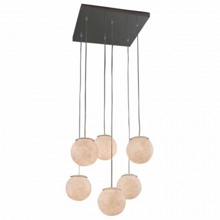 Moderne Design-Lüster In-es.artdesign Sei Lune aus Nebulit