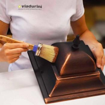Niedrige Aluminium-Außenlampe made in Italy, Aquilina
