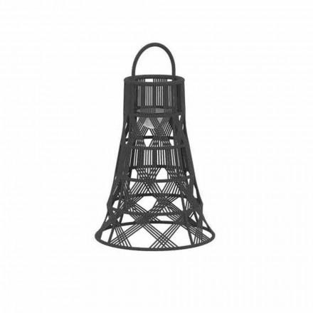 LED-Laterne im Freien in Seil- und Aluminium-Luxusdesign - Tribal von Talenti