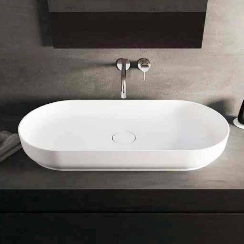 Freistehendes Badezimmerwaschbecken im modernen Design in Italien von Dalmine Maxi
