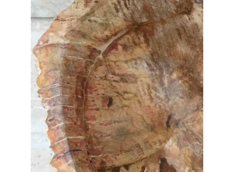 Star Standing Badezimmer Waschbecken aus fossilem Holz, einzigartiges Design