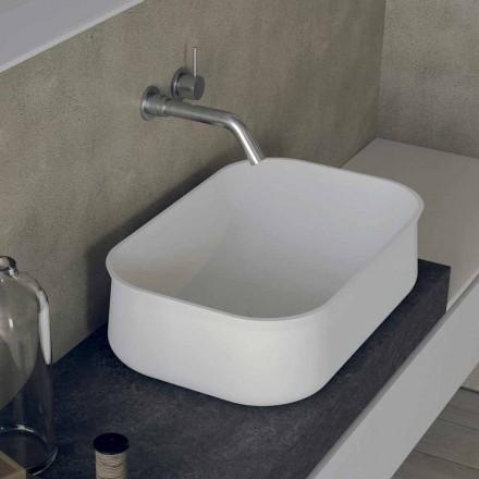 Modernes Design Arbeitsplatte Rechteckiges weißes Badezimmerwaschbecken - Tulyp2