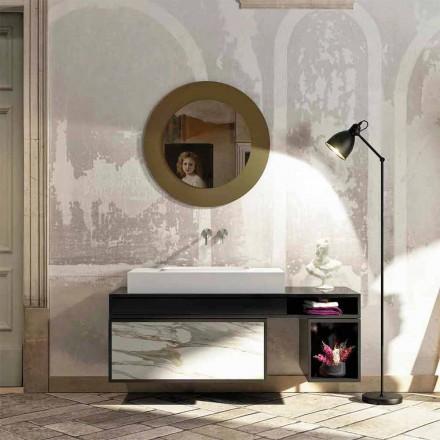 Waschtischplatte mit integrierten zentralen Waschbecken aus Luxolid Voghera