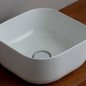 37x37cm Keramikwaschbecken Made in Italy Stern, modernes Design