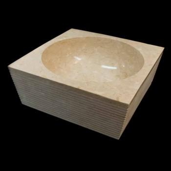 Weiß Waschbecken aus Naturstein, ein Stück, Zor