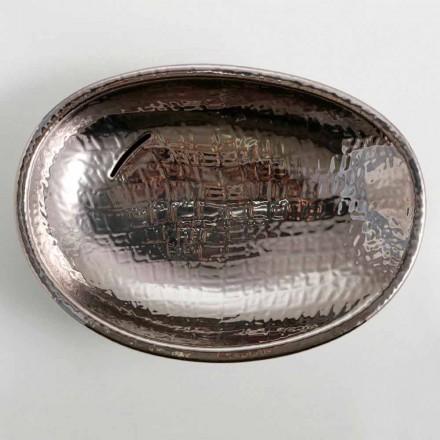 Modernes Design Aufsatzwaschbecken, Keramik-silver, made Italy Glossy