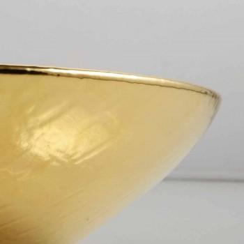 Arbeitsplatte Design Keramik Waschbecken Gold in Italien Tiere gemacht