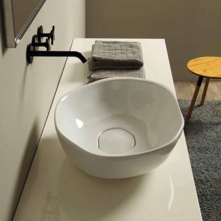 Aufsatzwaschbecken aus Keramik made in Italy, modernes Design Stelo