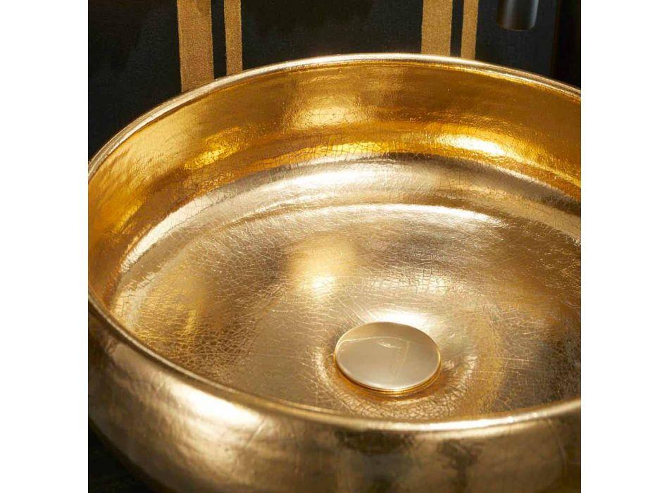 Gold Raku Design Aufsatzwaschtisch made in Italy, Ramon