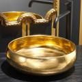 Aufsatzwaschbecken Design aus Keramik Rako 24k Gold, Ramon