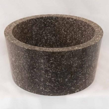 Aufsatzwaschbecken aus Naturstein grau Zen, Einzelstück
