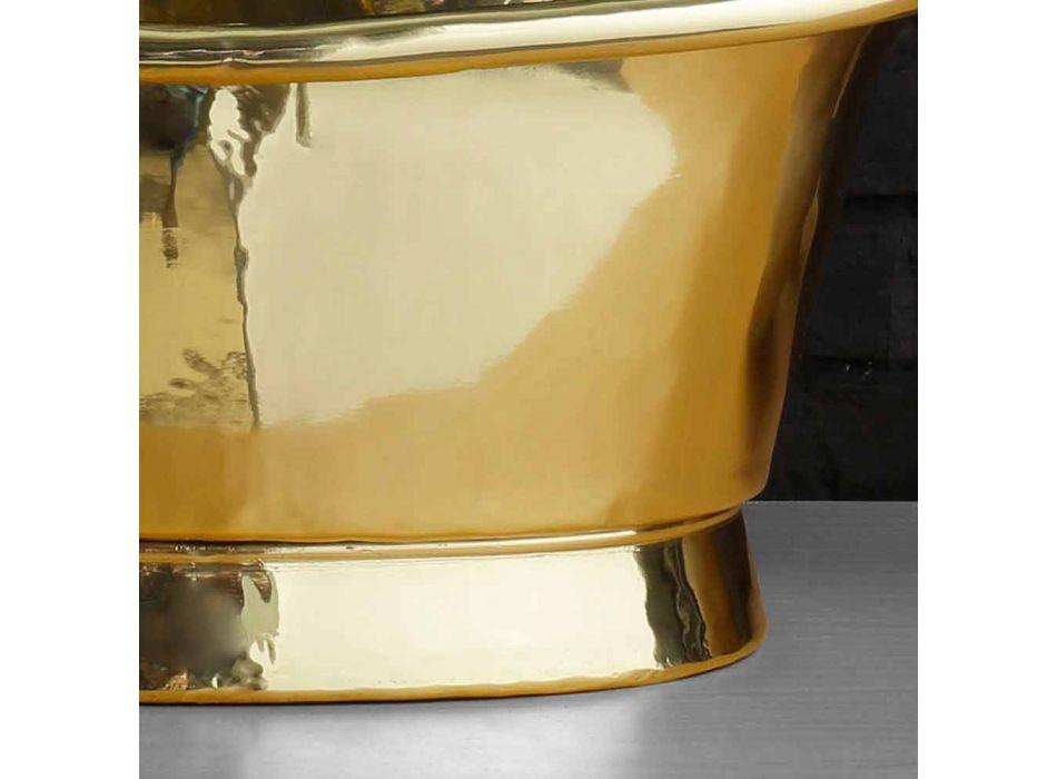 Waschbecken Design-Unterstützung komplett aus Messing Calla