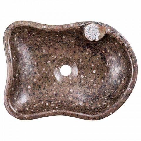 Marmor Aufsatzwaschbecken mit Fossilien - Burgeo