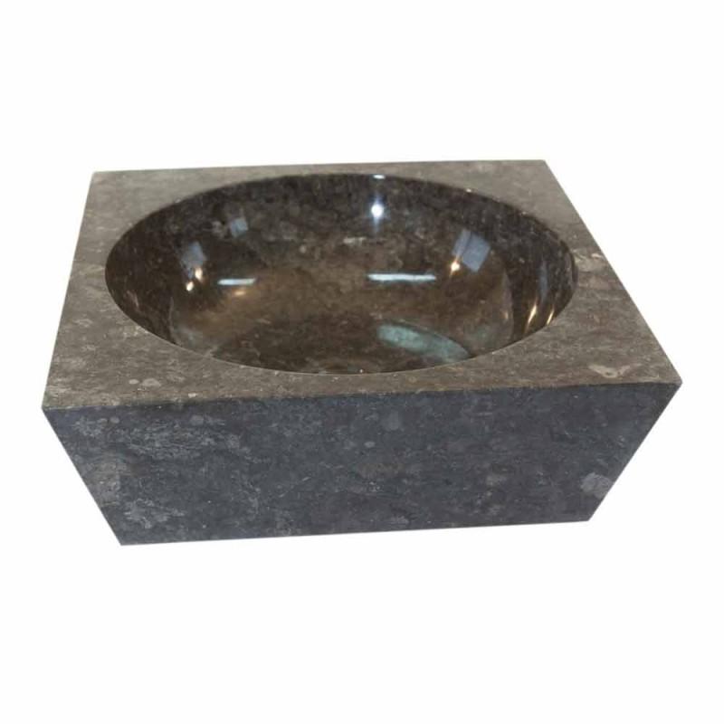 Waschbecken Unterstützung graue Quadrat Naturstein Jiny