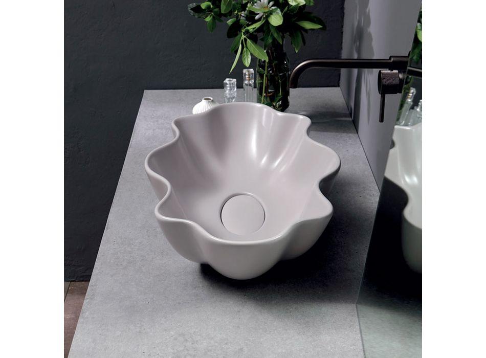 Aufsatzwaschbecken aus mattfarbiger Keramik Made in Italy - Cube