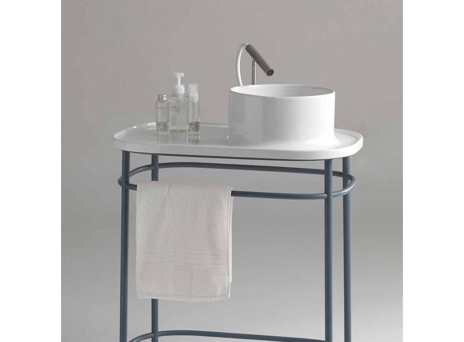 Waschbecken in voller Keramik-Metall-Basis Marta