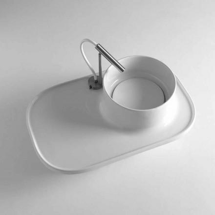 Aufsatzwaschbecken aus Keramik in modernem Design Marta
