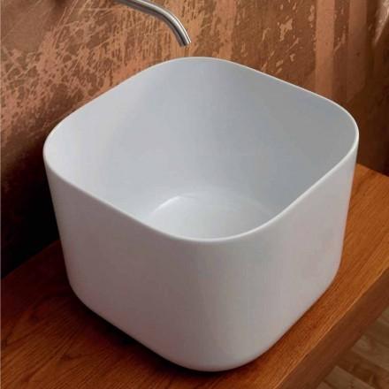 Aufsatzwaschbecken aus Keramik modernes Design Star Square 40x40cm