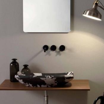 Aufsatzwaschbecken in getüpfter Keramik des Designs Made in Italy Laura