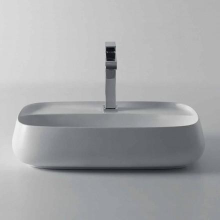 Aufsatzwaschbecken aus Keramik im modernen Design aus Italien, Gaiola