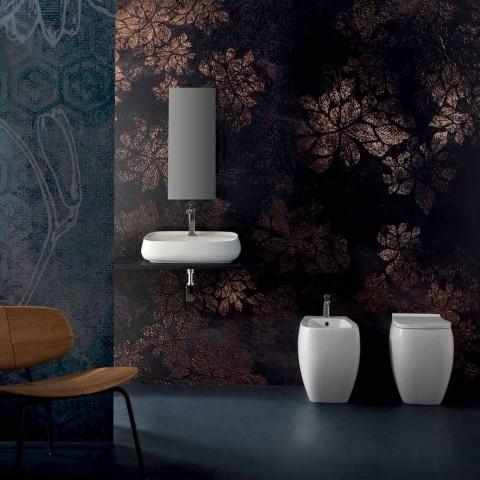 Modernes Aufsatzwaschbecken aus Keramik, made in Italy, Gaiola