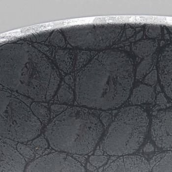 Aufsatzwaschtisch mit grauem Krokodildruck Italy Made Glossy